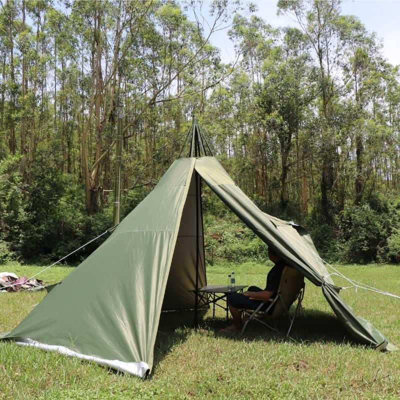 Mercury Hot Tent Teepee Tent Outdoor Camping For 4 Person - Wise Tents® 2