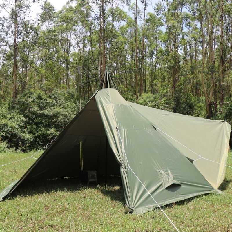 Mercury Hot Tent Teepee Tent Outdoor Camping 2 Person - Wise Tents® 5