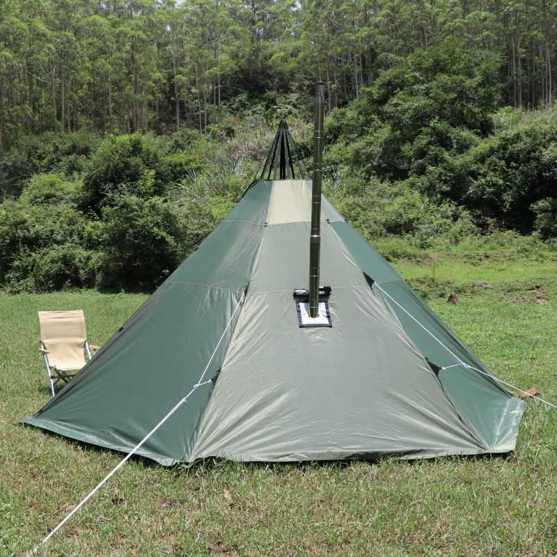 Mercury Hot Tent Teepee Tent Outdoor Camping For 4 Person - Wise Tents® 1