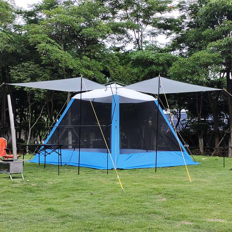 Wise Tents® Camping Mesh Tent With Sunshade Canopy- 4-6 Persons 2