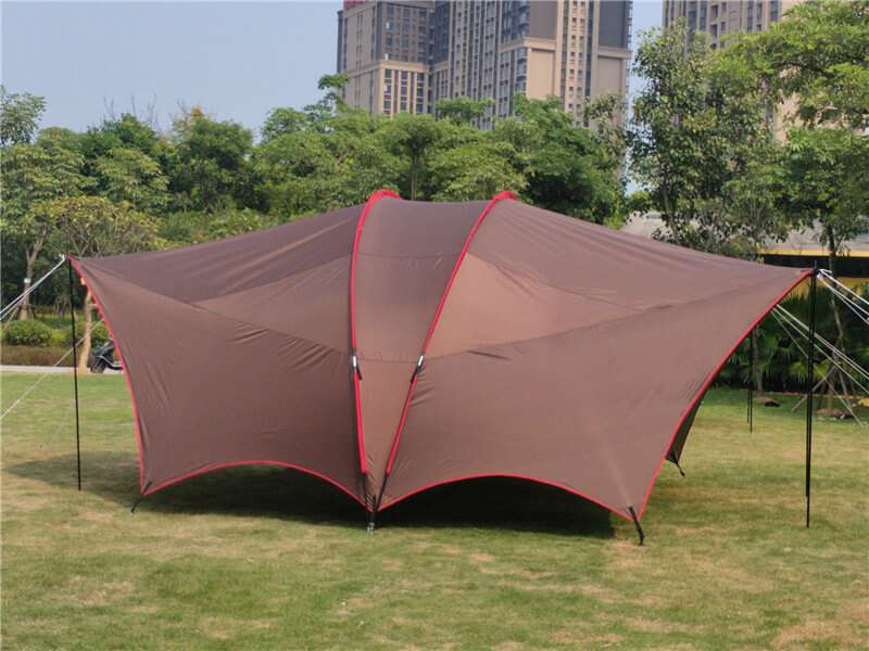 Wise Tents® Double Frame Rods Outdoor Sunshade Awning | Camping Tent With Canopy 3