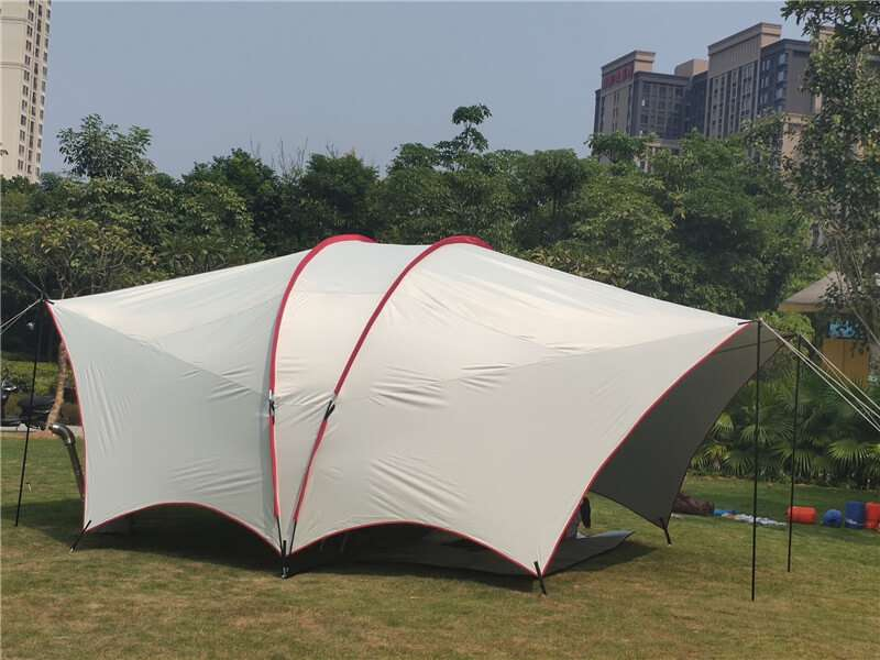 Wise Tents® Double Frame Rods Outdoor Sunshade Awning | Camping Tent With Canopy 4