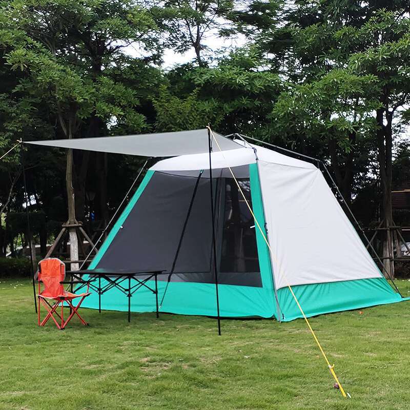Wise Tents® Camping Mesh Tent With Sunshade Canopy- 4-6 Persons 4