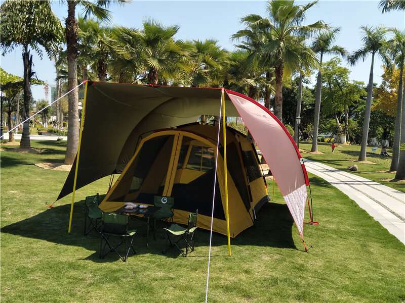 Wise Tents® Single Frame Rod Outdoor Sunshade Awning   Camping Tent With Canopy 4