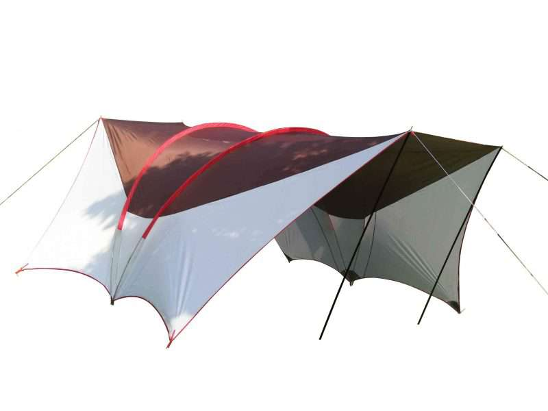 Wise Tents® Double Frame Rods Outdoor Sunshade Awning | Camping Tent With Canopy 5