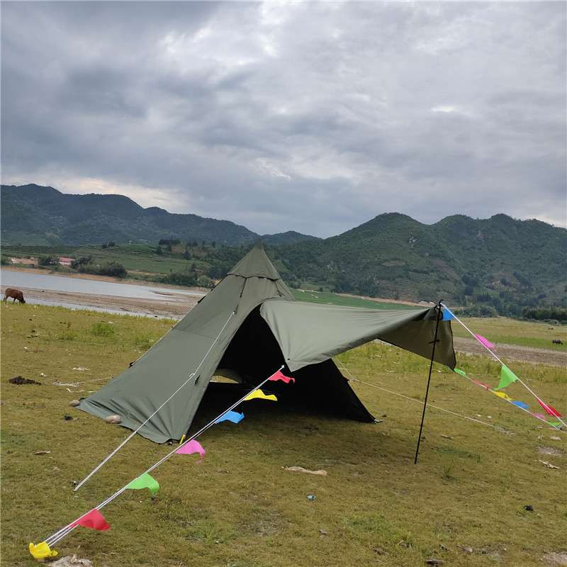 Great White Bear Hexagon Hot Tent Suitable for 5-6 Person - Wise Tents® 3