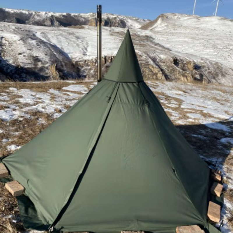 Mercury Yarn Cotton Canvas Tent with Wood Stove Jack - Wise Tents® 6