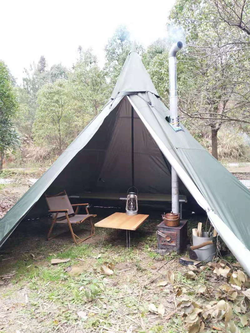 Mercury Yarn Cotton Canvas Tent with Wood Stove Jack - Wise Tents® 5