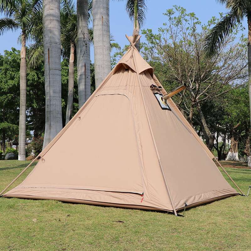 Wise Tents® Outdoor Pyramid Cotton Teepee Tent - 3-4 Persons 4