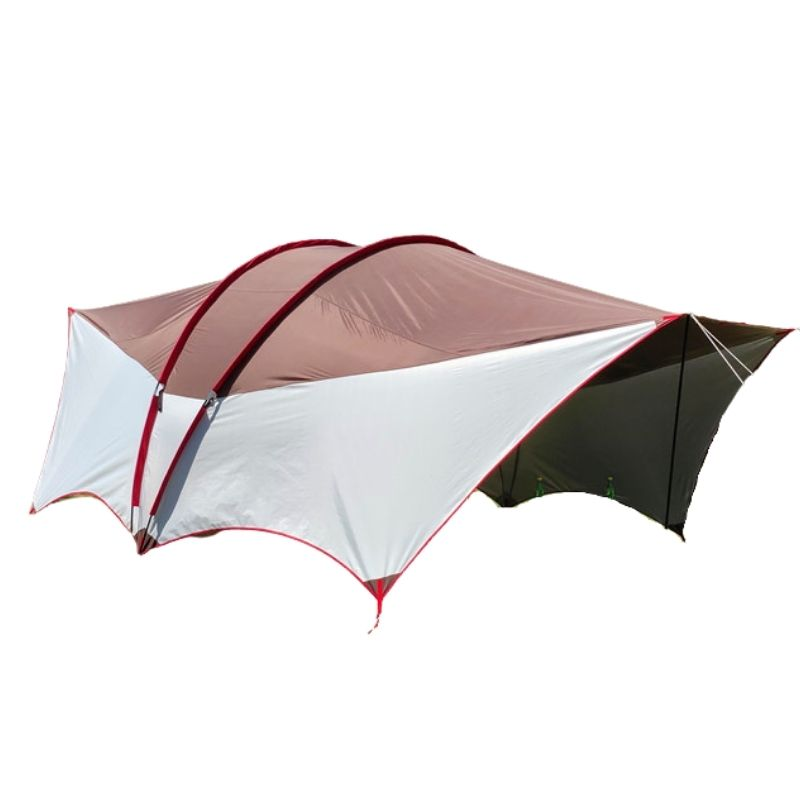 Wise Tents® Double Frame Rods Outdoor Sunshade Awning | Camping Tent With Canopy 1