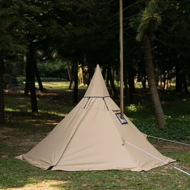 Mercury Yarn Cotton Canvas Tent with Wood Stove Jack - Wise Tents® 1