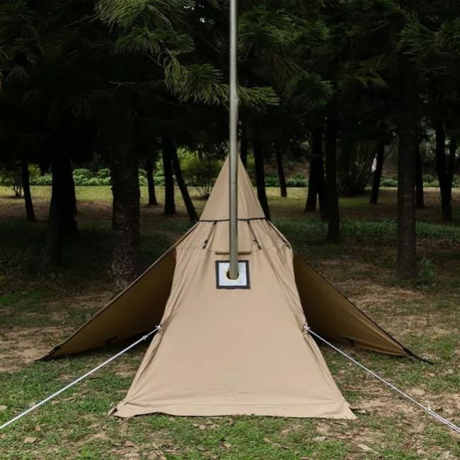 Mercury Yarn Cotton Canvas Tent with Wood Stove Jack - Wise Tents® 4