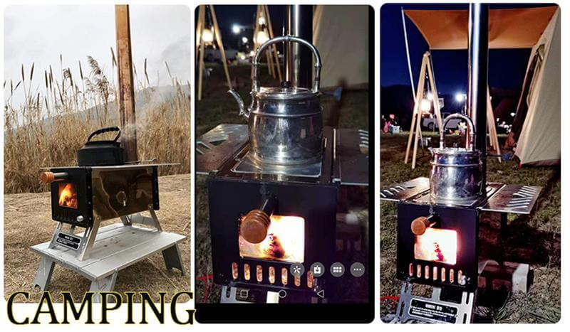 Mars – S2 Mini Wood Stove For Hot Tent Camping - Wise Tents®
