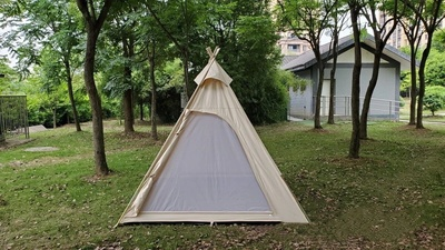 Great white bear hexagon hot tent suitable for 5-6 person- Wise tents