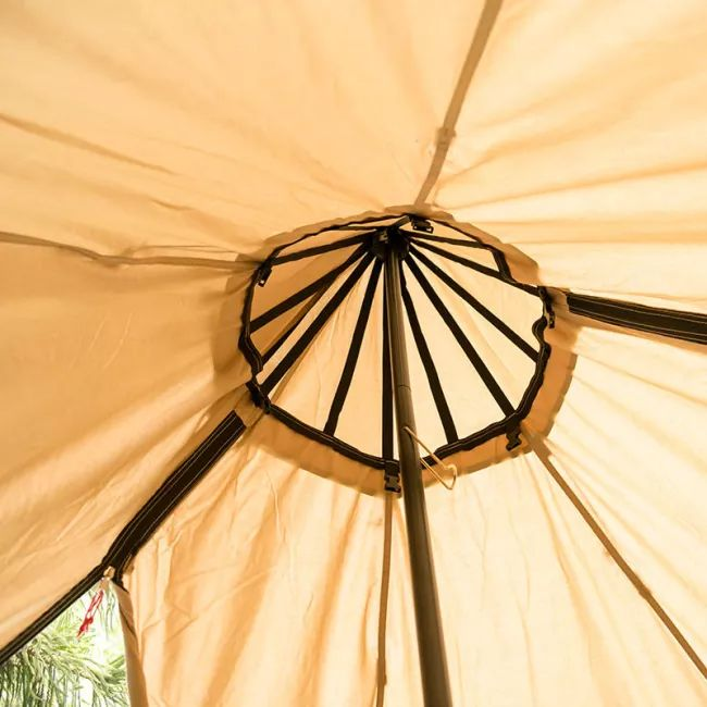 Mercury Yarn Cotton Canvas Tent with Wood Stove Jack - Wise Tents® 11