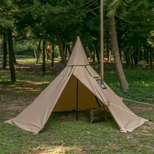 Mercury Yarn Cotton Canvas Tent with Wood Stove Jack - Wise Tents® 3