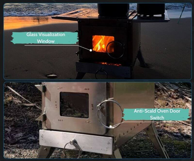 Multifunctional Wood Stove For Camping