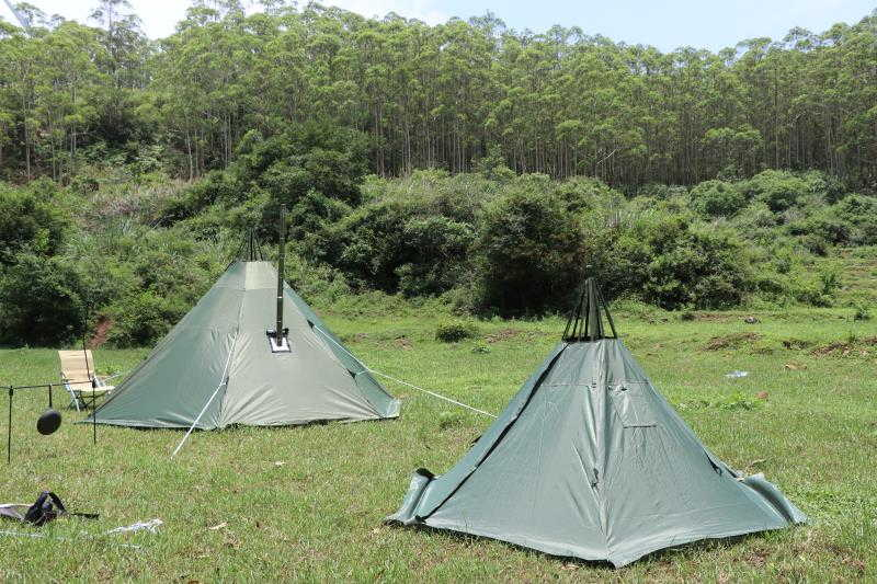 Mercury hot tent teepee tent outdoor camping for 4 person- wise tents