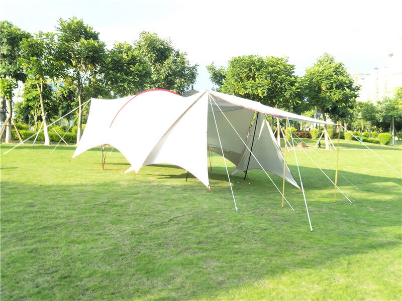 Single frame Rod outdoor sunshade Awning tent with canopy