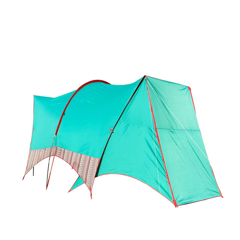 Camping mash tent with sunshade canopy